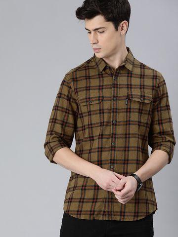The Bear House   Brown Casual Shirt