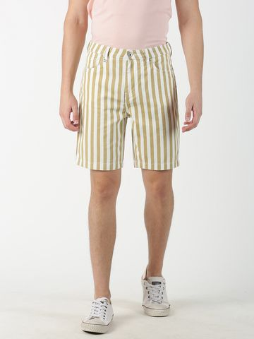 Blue Saint | Blue Saint Men's Striped Brown Shorts