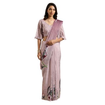SATIMA | Satima PeachCotton SilkDigital Print Saree