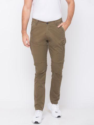 Spykar   spykar Green Cotton Trousers