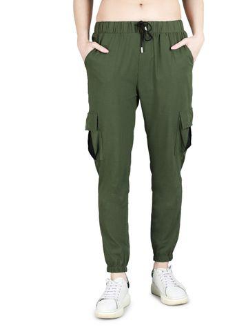 DEVS AND DIVAS | DEVS AND DIVAS Green Jogger Cargo Pants Trouser for Women