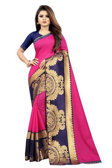 JINAL & JINAL | JJ Women's Chanderi Cotton Saree - TT RANI