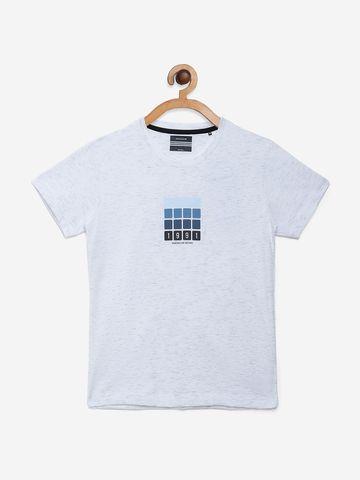 OCTAVE | Boys WHITE MELANGE T-Shirts