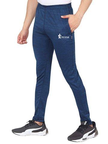Picstar | PICSTAR Solid Men Dark Blue Track Pants