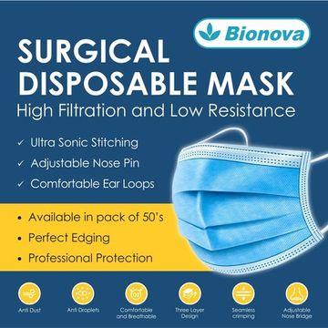 Bionova   Bionova Disposable Surgical Masks 3 Ply