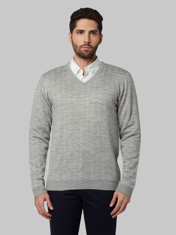 Park Avenue | Grey Printed Sweater
