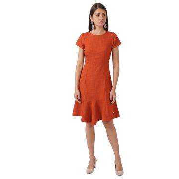 Park Avenue | Park Avenue Dark Orange Dress