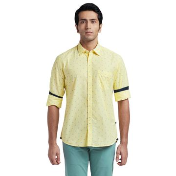 PARX   XMSS08661Y2 Light Yellow Casual Shirt