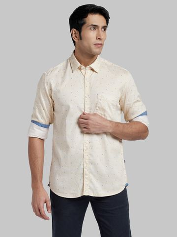 PARX   XMSS08663Y2 Light Yellow Casual Shirt
