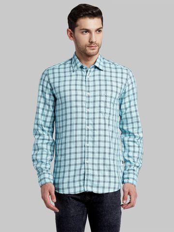 PARX   XMSS08672B2 Light Blue Casual Shirt