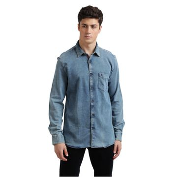 PARX   XMSS08688B6 Dark Blue Casual Shirt