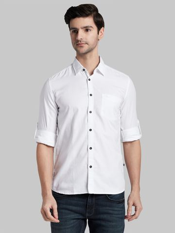 PARX   XMSS09862W4 White Casual Shirt