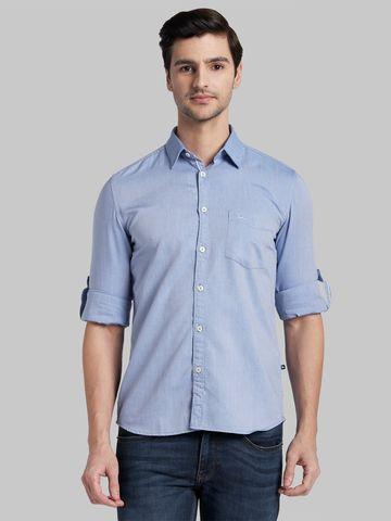 PARX   XMSS09863B5 Blue Casual Shirt