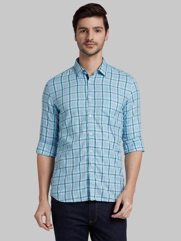 PARX   XMSS10100B5 Blue Casual Shirt