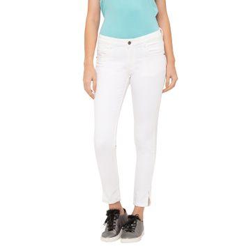 globus | Globus Off White Solid Jeans