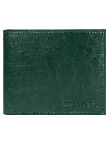 CREATURE | CREATURE Classic Bi-Fold Pu-Leather Green Wallet with Multiple Card Slots for Men