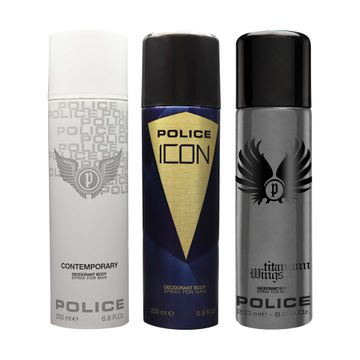 POLICE | Contemporary and Icon and Titanium Wings Deodorant Spray - For Men 600 ML