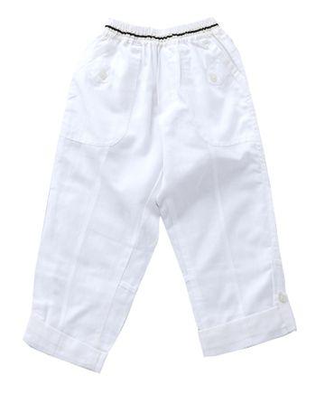 Popsicles Clothing | Popsicles Snow White Pants Regular Fit For Boys
