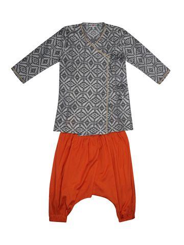 Popsicles Clothing | Popsicles Marmalade Kurta Pyjama Set Regular Fit For Boys