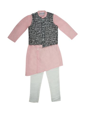 Popsicles Clothing | Popsicles Taffy-3Piece Kurta Set Regular Fit For Boys