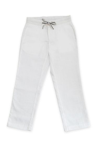 Popsicles Clothing   Popsicles Boys Linen Snow white Linen Pants - White (1-2 Years)
