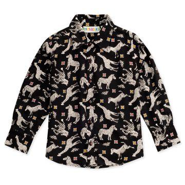Popsicles Clothing | Popsicles Boys Rayon Jungle Shirt - Black (1-2 Years)