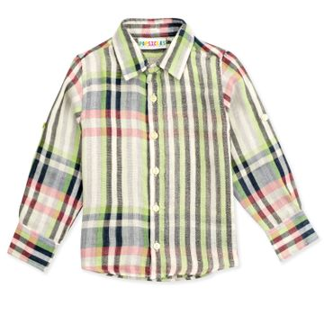 Popsicles Clothing | Popsicles Boys Cotton Double Sided Shirt - White (1-2 Years)