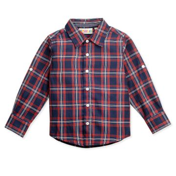 Popsicles Clothing | Popsicles Boys Cotton Box Shirt - Navy (1-2 Years)