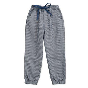 Popsicles Clothing | Popsicles Boys Cotton Denim Stripe Joggers Pants - Navy (1-2 Years)
