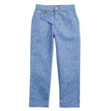Popsicles Clothing | Popsicles Boys Linen Blue Marble Lounge Pants - Blue