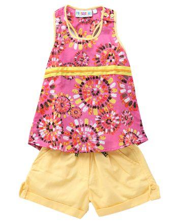 Popsicles Clothing | Popsicles Rouge Shorts Set  Regular Fit Dress For Girl