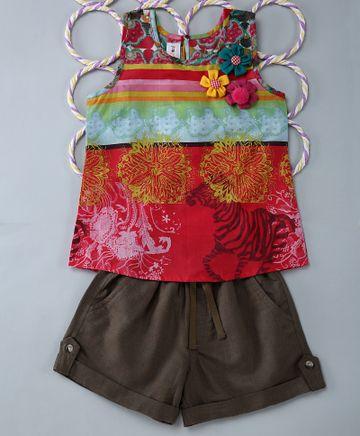 Popsicles Clothing | Popsicles Juniper Set Regular Fit Dress For Girl