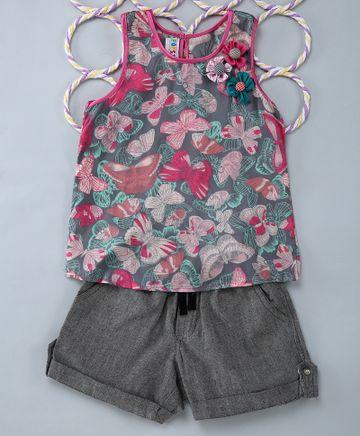 Popsicles Clothing | Popsicles Pewter Set Regular Fit Dress For Girl