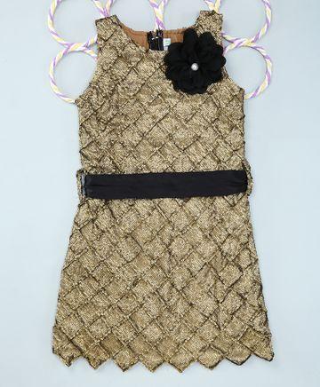 Popsicles Clothing | Popsicles Shimmer Dress Regular Fit Dress For Girl