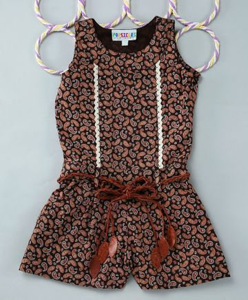 Popsicles Clothing   Popsicles Paisley Playsuit Regular Fit Dress For Girl