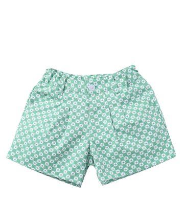 Popsicles Clothing | Popsicles Mint Shorts Regular Fit Dress For Girls