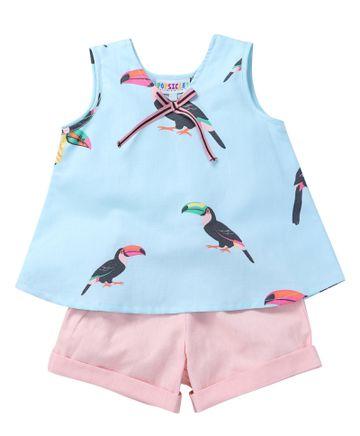 Popsicles Clothing | Popsicles Toucan Set Regular Fit Dress For Girl