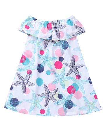Popsicles Clothing | Popsicles Starfish Dress Regular Fit Dress For Girl