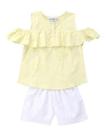 Popsicles Clothing | Popsicles Firefly Shorts Set  Regular Fit Dress For Girl