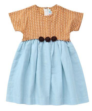 Popsicles Clothing   Popsicles Sky Dress Regular Fit Dress For Girl