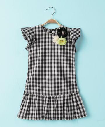 Popsicles Clothing | Popsicles Ebony Plaid Dress Regular Fit Dress For Girl