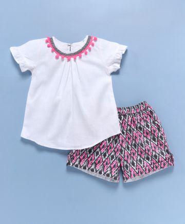 Popsicles Clothing | Popsicles Aztec Shorts Set Regular Fit Dress For Girl
