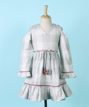Popsicles Clothing | Popsicles Oyster Dress Regular Fit Dress For Girl