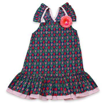 Popsicles Clothing | Popsicles Cornblue Dress Regular Fit Dress For Girl