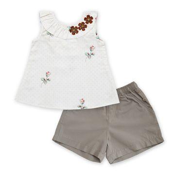 Popsicles Clothing | Popsicles Garden Mink Shorts Set Regular Fit Dress For Girl