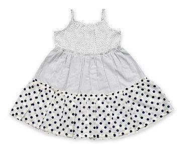 Popsicles Clothing | Popsicles White Smoke Dress Regular Fit Dress For Girl