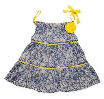 Popsicles Clothing | Popsicles Blue Slate Dress Regular Fit Dress For Girl
