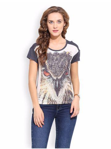Porsorte | PORSORTE Women's Animal Print Cotton Viscose  Top