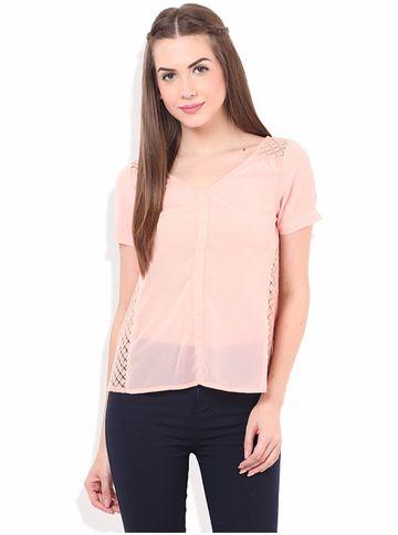 Porsorte | PORSORTE Women's  Polyester Solid Pink Top