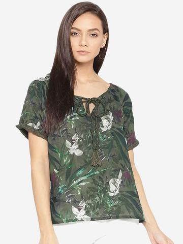 Porsorte | PORSORTE GREEN Digital printed  Top